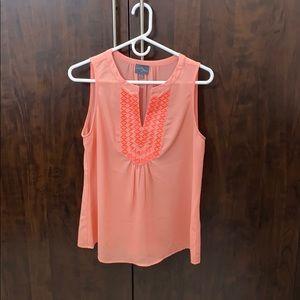 Market and Spruce orange/peach sleeveless top - M